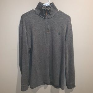 Polo by Ralph Lauren Gray Quarter-Zip Sweater